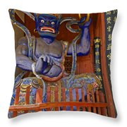 Chinese Temple Guardian Throw Pillow