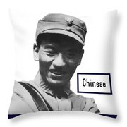 Chinese - This Man Is Your Friend - Ww2 Throw Pillow
