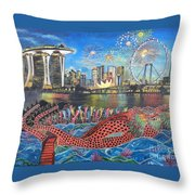 Chingay Parade Throw Pillow