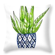 Chinoiserie Cactus No2 Throw Pillow
