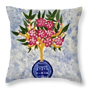 Chinoiserie Planter Throw Pillow
