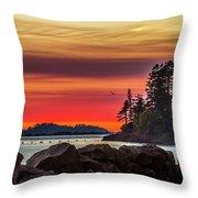 Chinook Sunset 2 Throw Pillow