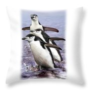 Chinstrap Penguins 1 Throw Pillow