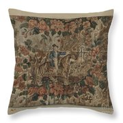 Chintz Square Throw Pillow