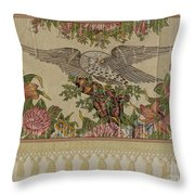 Chintz Valance For Poster Bed Throw Pillow