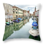 Chioggia Venice Italy Throw Pillow