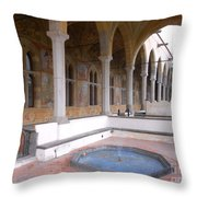 Chiostro Santa Chiara- Naples, Italy Throw Pillow
