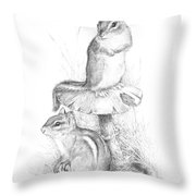 Chip And Chatter Throw Pillow