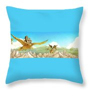 Chiricahua Mountains Panorama Throw Pillow