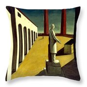 Chirico: Enigma, 1914 Throw Pillow