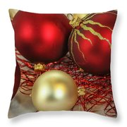 Chirstmas Ornaments Throw Pillow