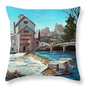 Chishom's Mill Throw Pillow