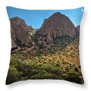 Chisos Mountain Range Throw Pillow