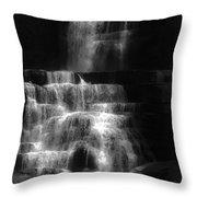 Chittenango Falls Bw Throw Pillow