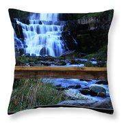 Chittenango Falls State Park Throw Pillow