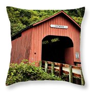 Chitwood Covered Bridge Throw Pillow