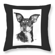 Chiweenie Throw Pillow