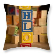 Chloe - Alphabet Blocks Throw Pillow