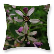 Chock Cherry Flower Throw Pillow
