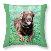 Choco Labrador Throw Pillow