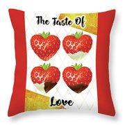 Chocolate - 7  Strawberry Throw Pillow