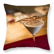 Chocolate And Cream Martini Cocktail Throw Pillow