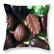 Chocolate Candy Throw Pillow