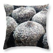 Chocolate Coconut Cakes Throw Pillow