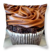 Chocolate Cupcakes Throw Pillow
