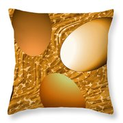 Chocolate Eggs Throw Pillow