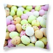 Chocolate Eggs Throw Pillow