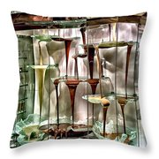 Chocolate Fountain In Bellagio Throw Pillow