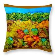 Chocolate Hills Pilippines Throw Pillow