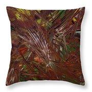 Chocolate Jungle - 197 Throw Pillow