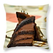 Chocolate Mousse Cake Throw Pillow