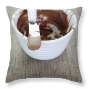 Chocolate Sauce In Bowl Throw Pillow