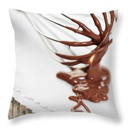 Chocolate Sauce On Whisk Throw Pillow