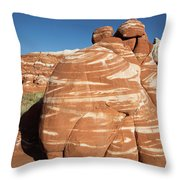 Chocolate Swirl Throw Pillow