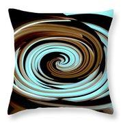 Chocolate Swirls Throw Pillow
