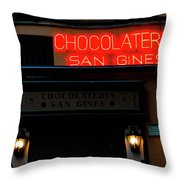 Chocolateria Throw Pillow