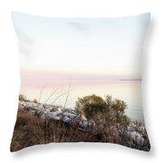 Choctawhatchee Bay Sunset Throw Pillow