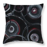 Choices In Black Throw Pillow