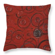 Choices In Red Throw Pillow