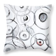 Choices In White Throw Pillow