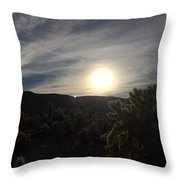 Cholla Sunset Throw Pillow