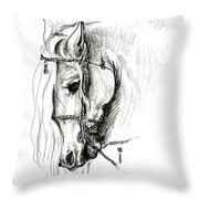 Chomping At Bit - Sketch1 Throw Pillow