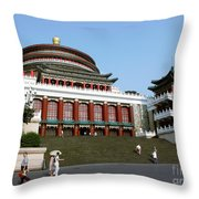 Chongqing Opera Throw Pillow