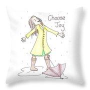 Choose Joy Woman Throw Pillow