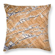 Chopped Up Veneered Wood Board Throw Pillow