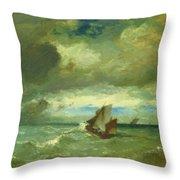 Choppy Sea 1870 Throw Pillow
